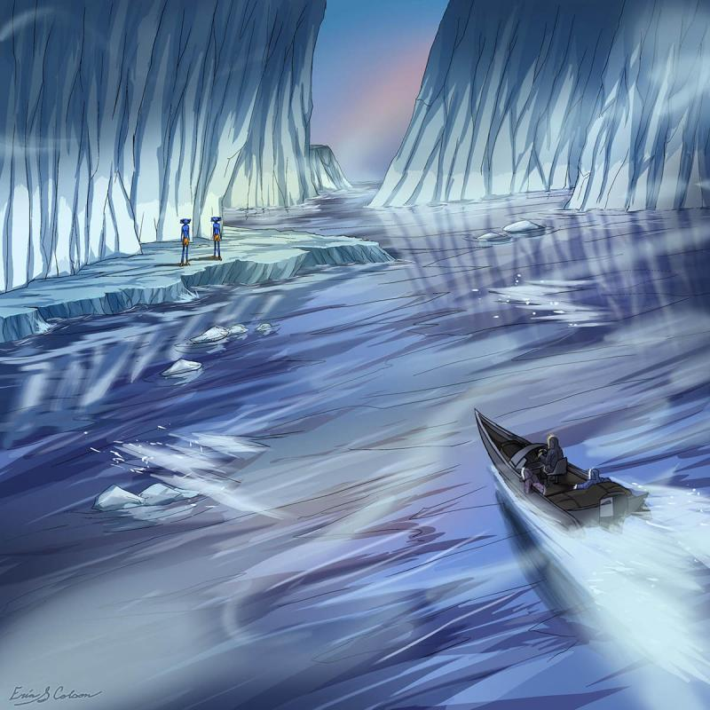 Breaking the Ice illustration by Erin Colson